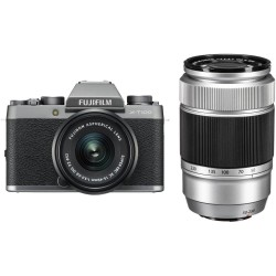 FUJIFILM X-T100 OB.XC 15-45mm+OB.50-230mm DARK SILVER KIT